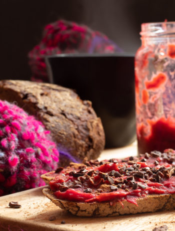rhubarb & strawberry gum compote