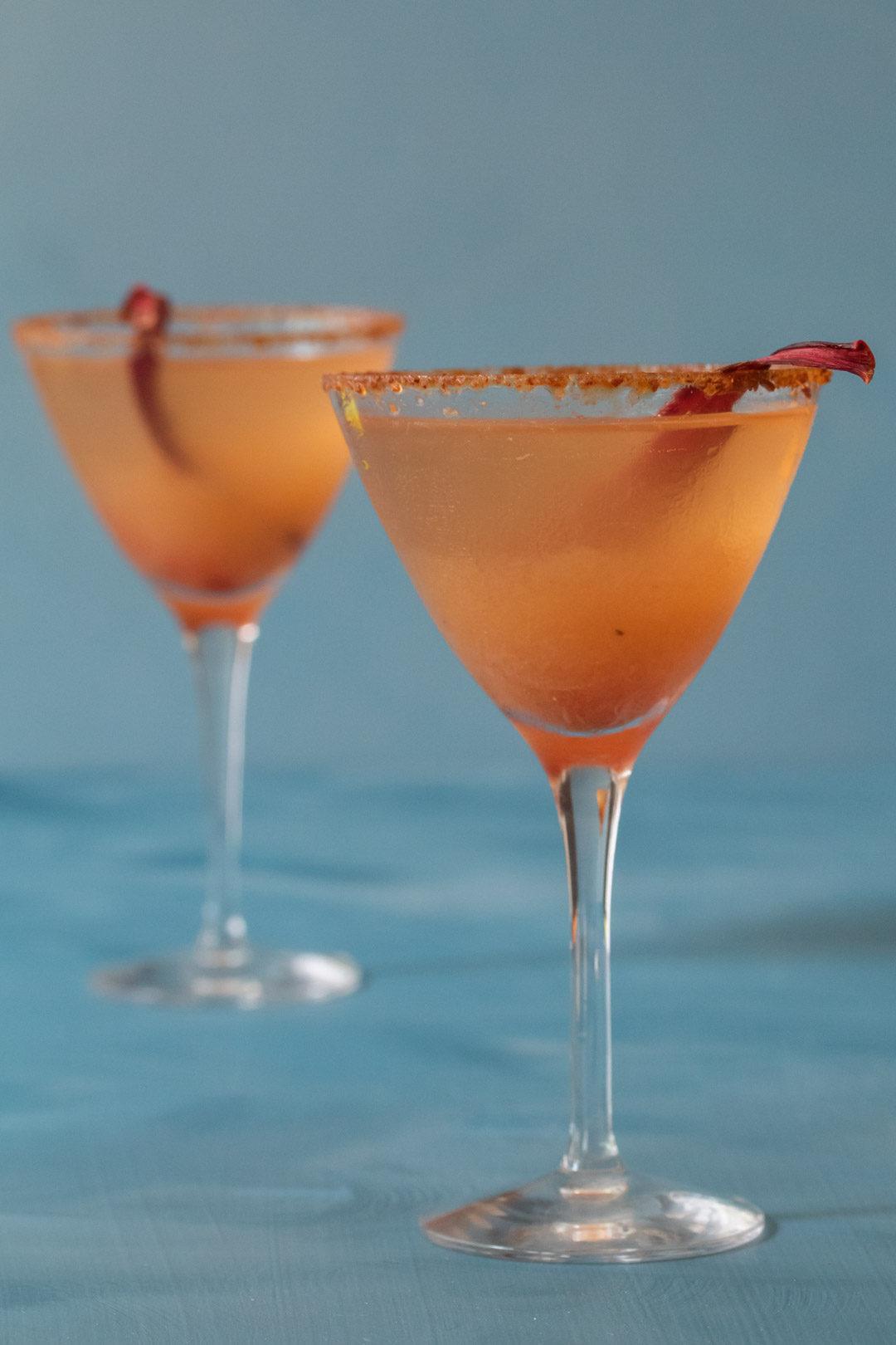 rhubarb martinis
