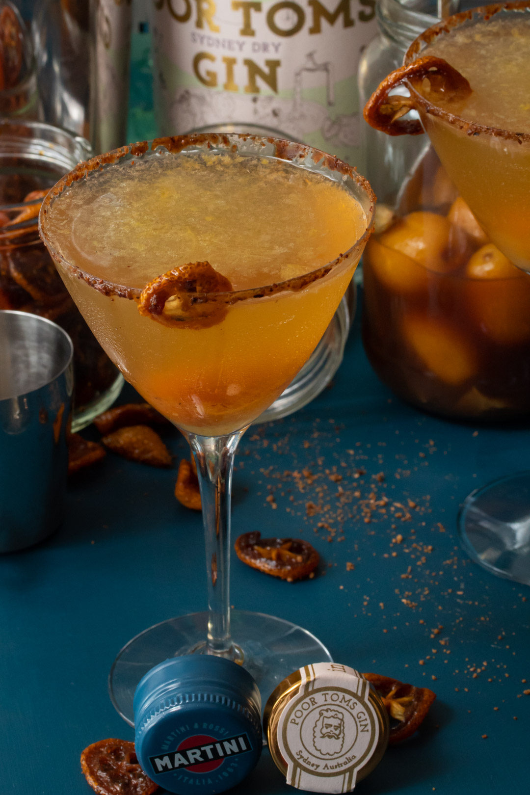 cumquat martini making