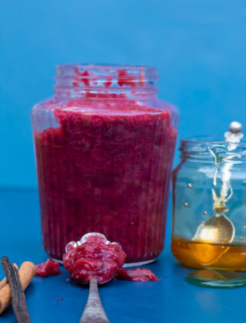 rhubarb compote with honey