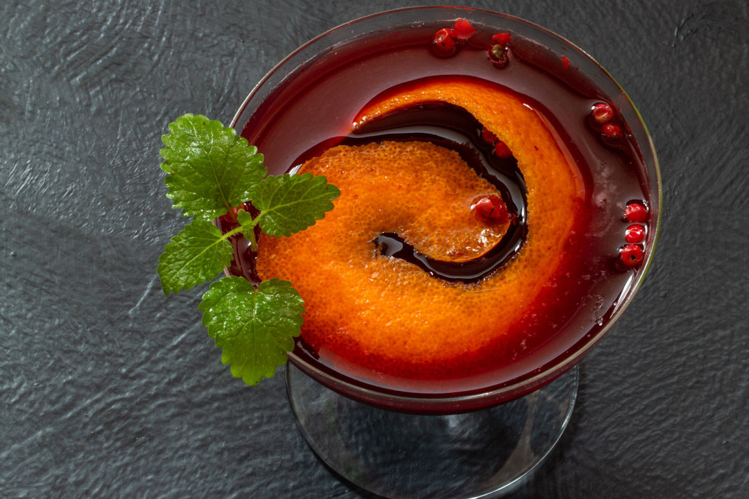 mulberry shrub cocktail