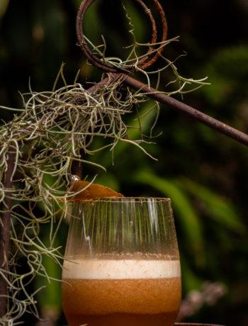 Pear pickle sour cocktail