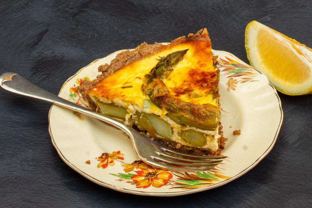 asparagus & lemon tart: horizontal