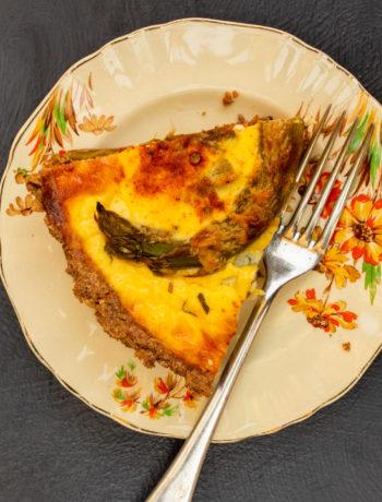asparagus & lemon tart: vertical