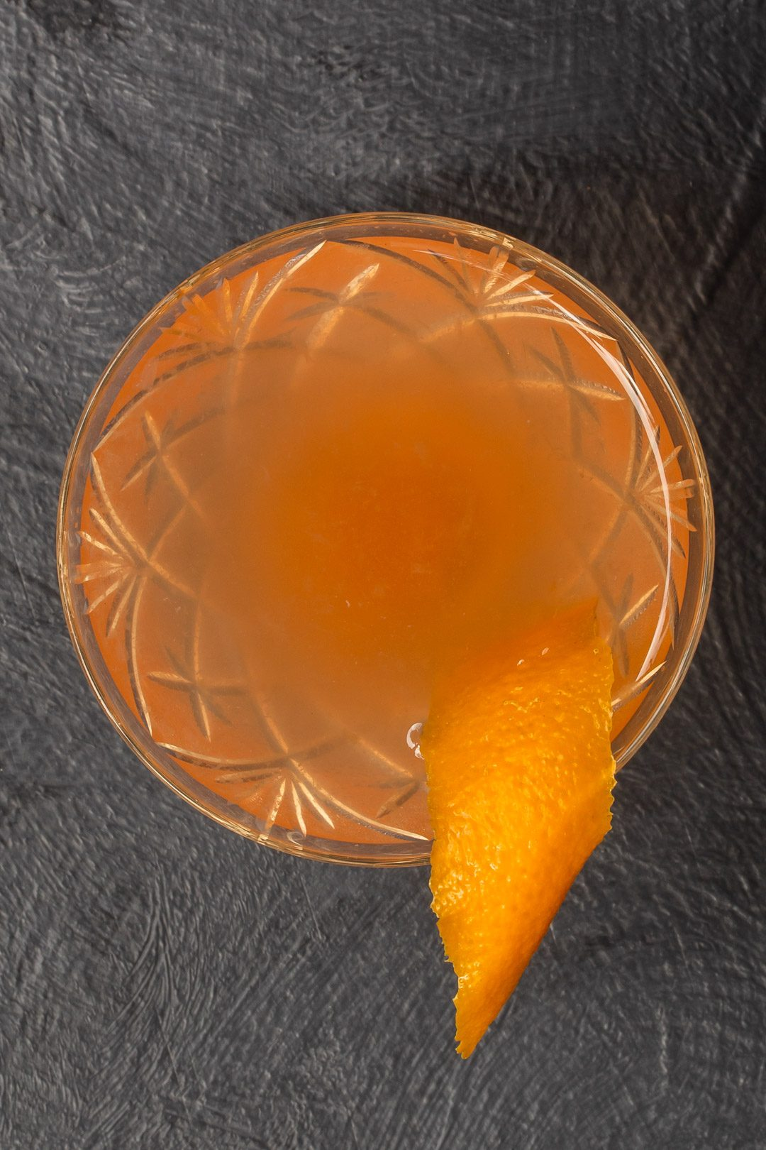 quince apple jam gin sour cocktail from above