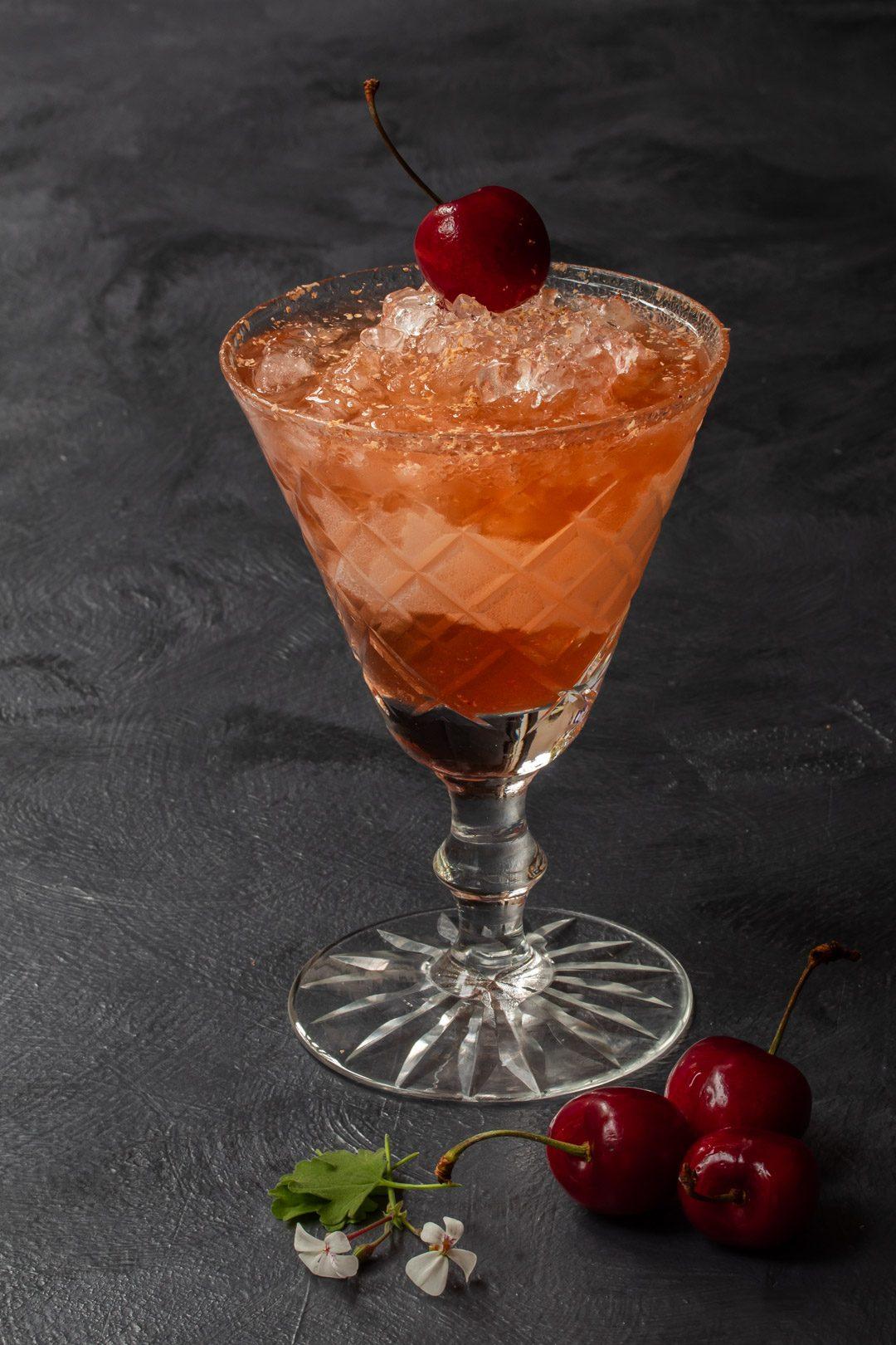 cherry shrub brandy daisy from 45 degrees