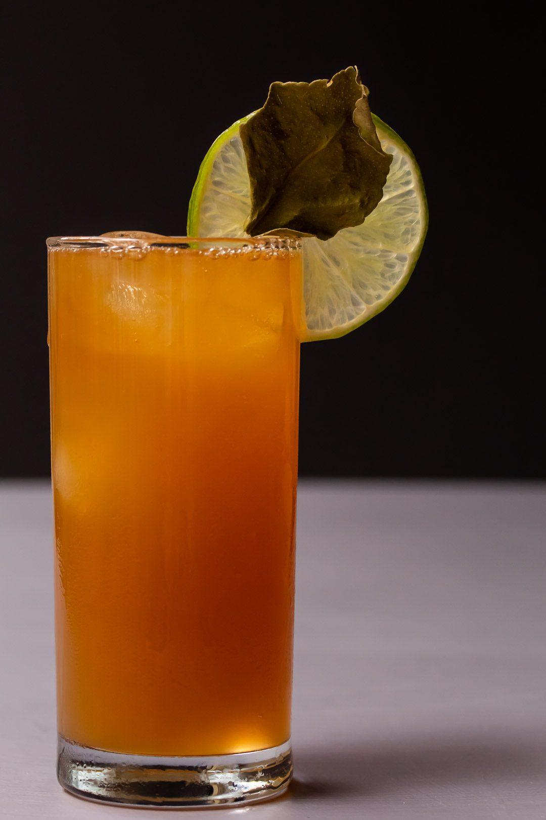 lime lightening dark 'n stormy full glass