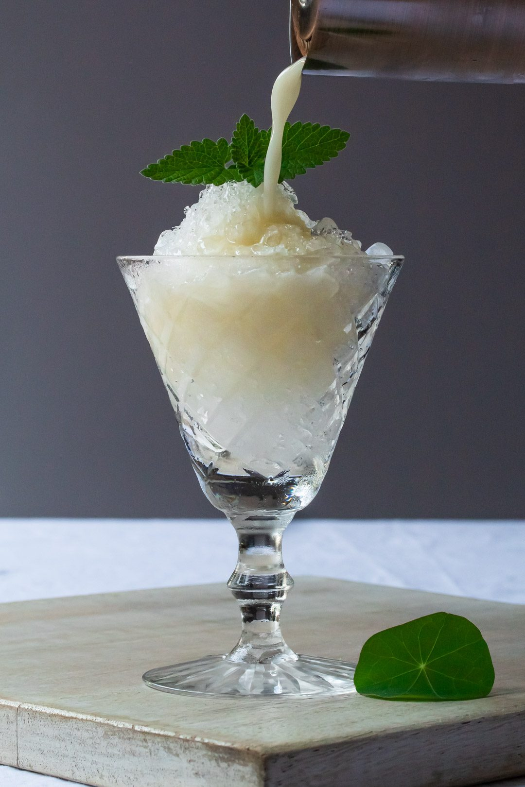 improved macadamia orgeat limeade: more pouring