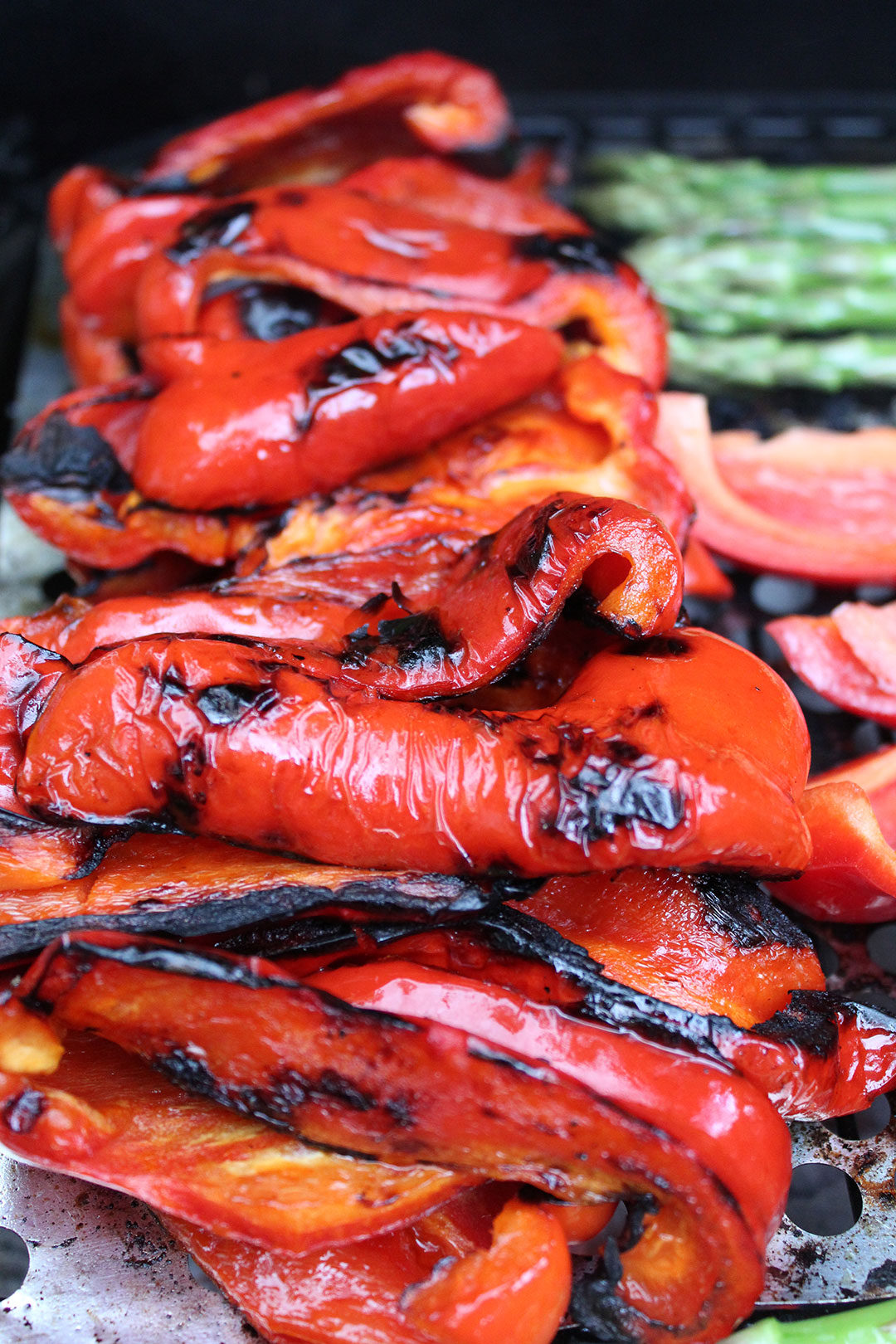 red peppers on BBQ