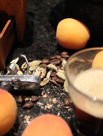cardamom coffee with apricots