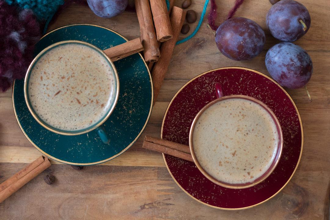 cinnamon coffee flatlay