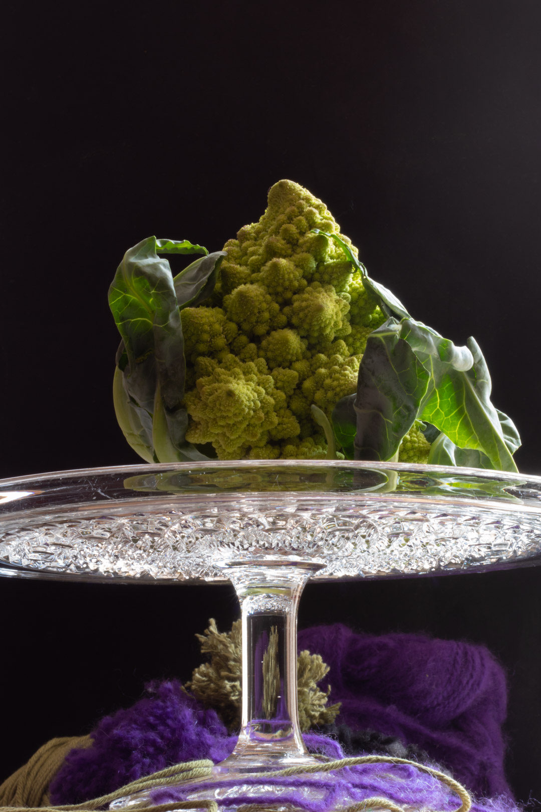 romanesco on a cakestand