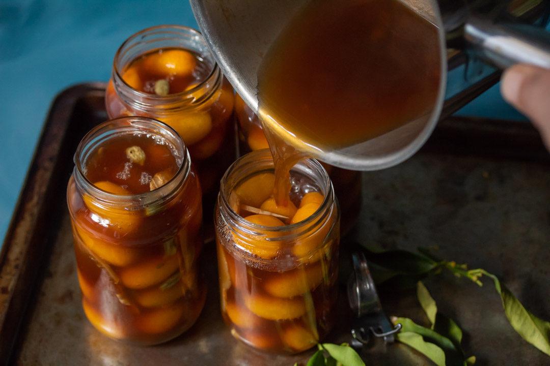 pickling cumquats brine pour