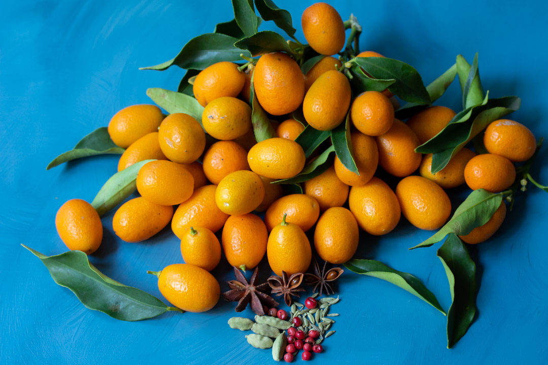 cumquats with spices