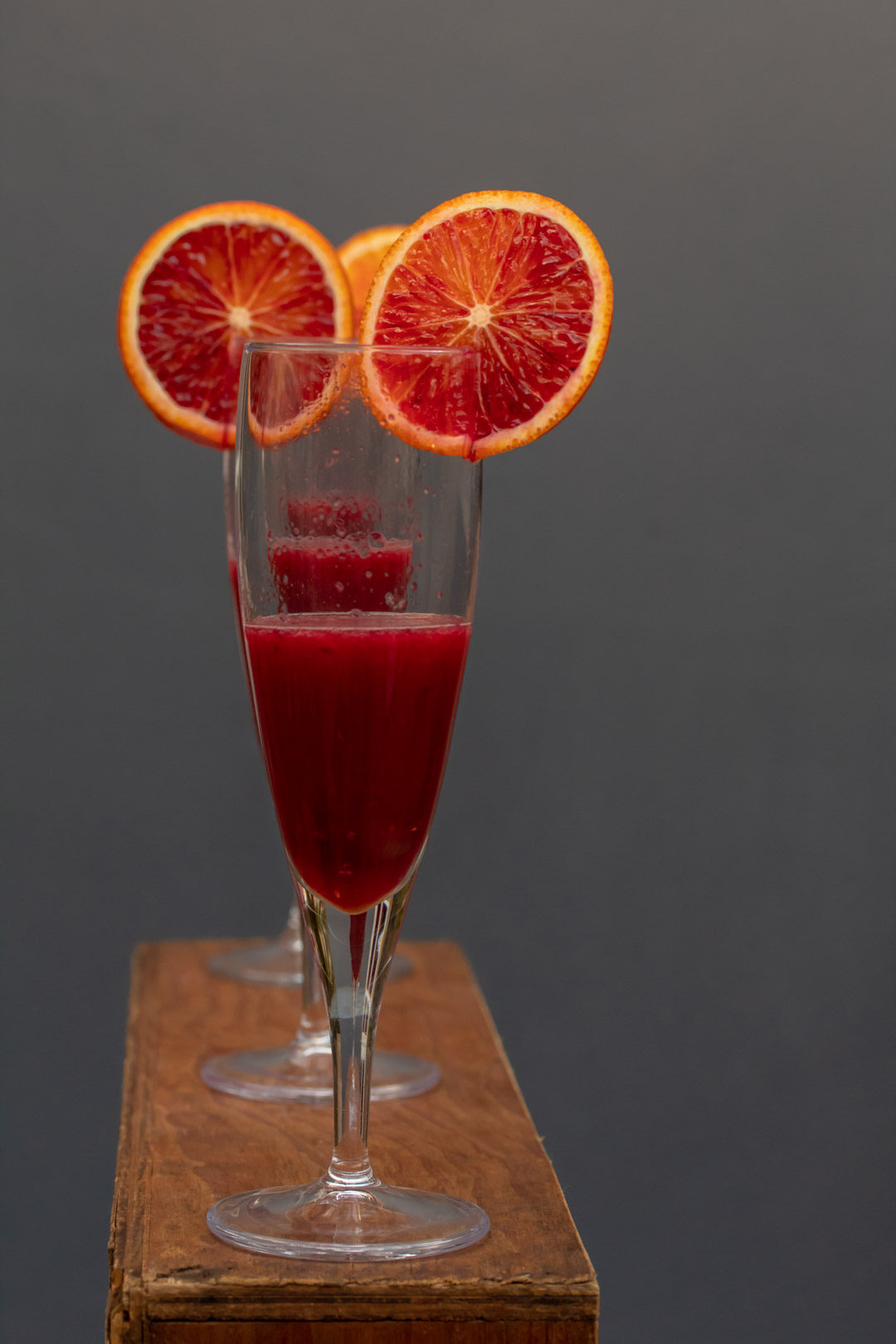 pickled cherry blood orange prosecco