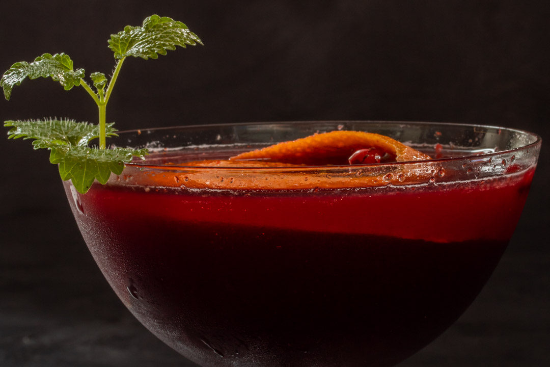 mulberry shrub cocktail eye level