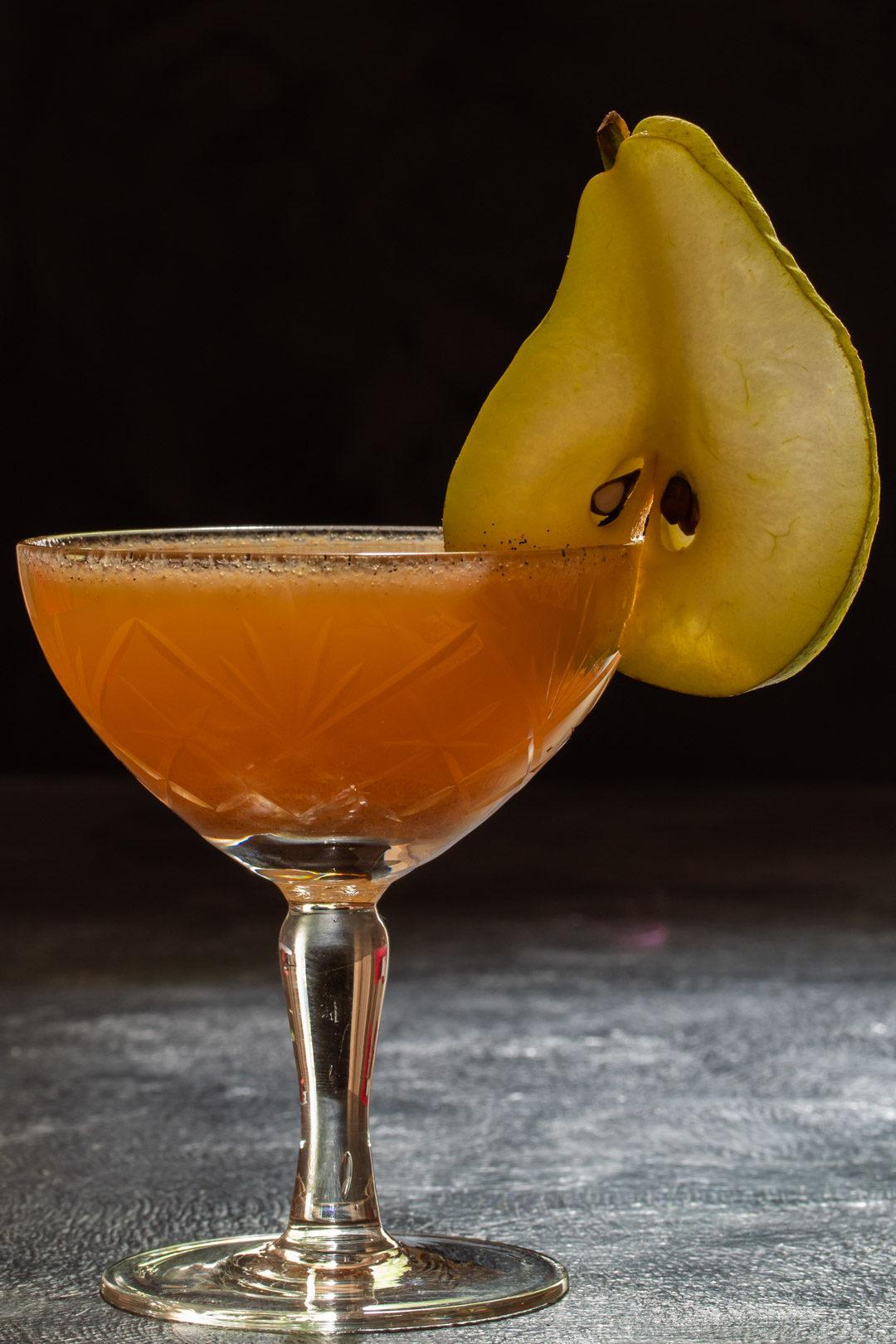 spiced ginger pear shrub
