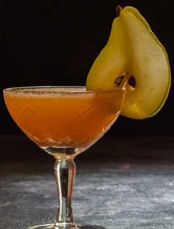 spiced ginger pear shrub