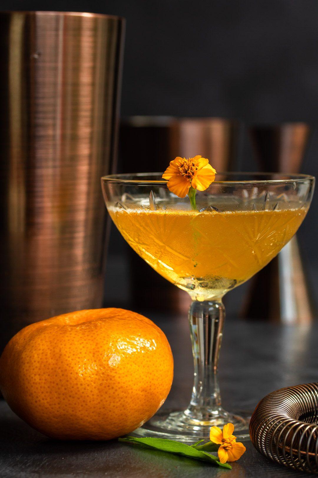 Mandarin pickle Hoop la! Cocktail with Boston shakers
