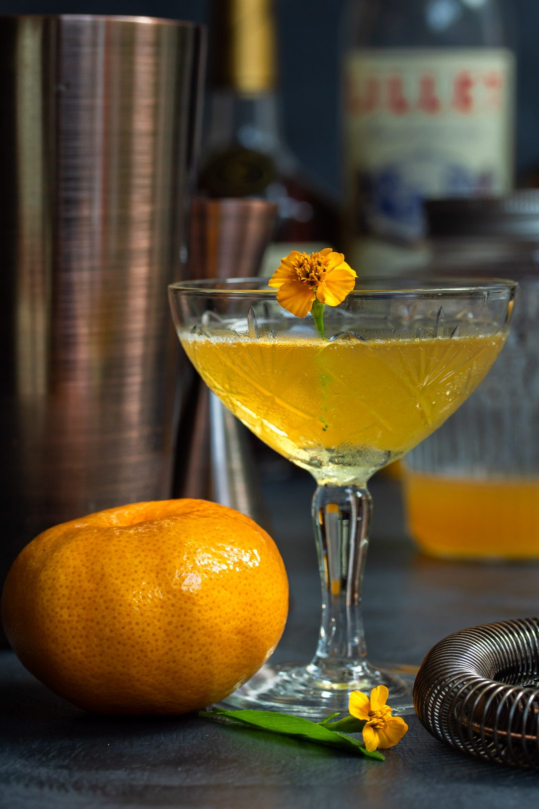 Making a Mandarin pickle Hoop la! Cocktail