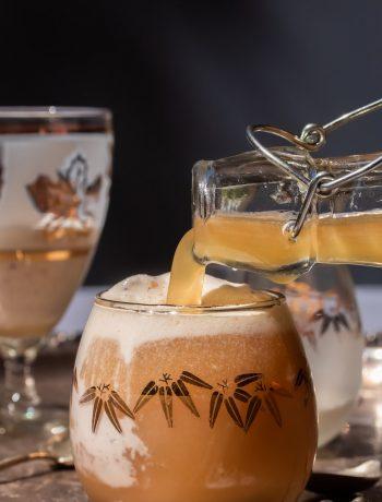 pouring ginger beer for lemon myrtle ginger beer spiders