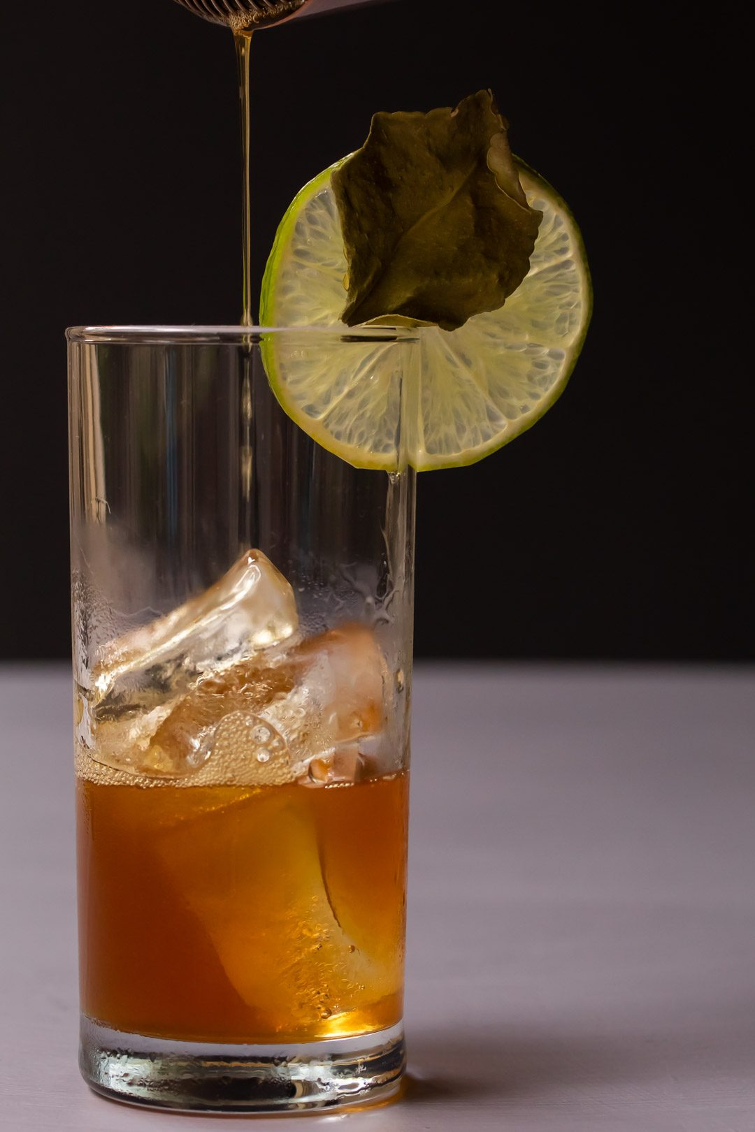 lime lightening dark 'n stormy finish pouring rum and lime