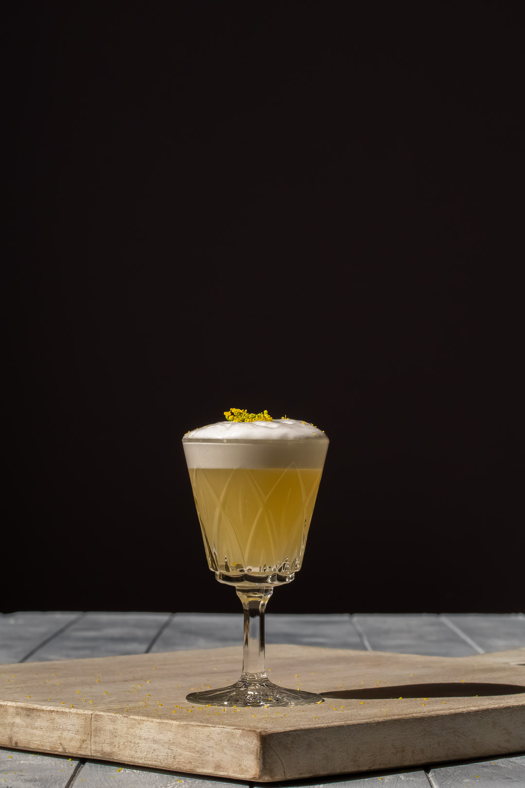 fennel flower silver sour garnished with fennel flower